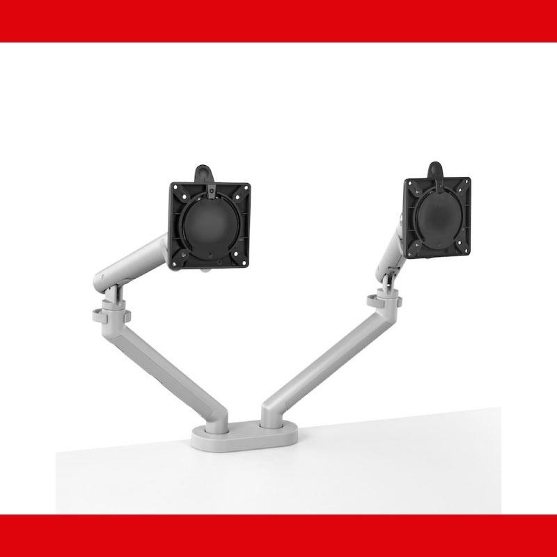 Portamonitor Flo Doble Plateado 4-01